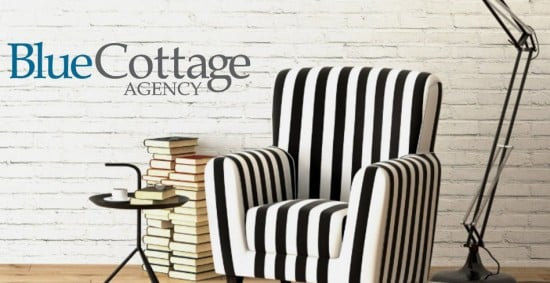 Blue Cottage Agency Chair and Books